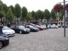 back on the road - now in Belgium: Maaseik market square